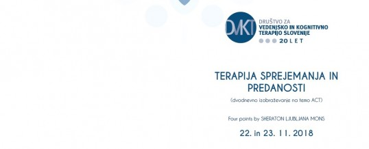 Dvodnevni seminar iz terapije prihvaćanjem i posvećenošću u Ljubljani